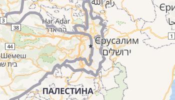 Єрусалим - детальна мапа