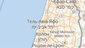 Тель-Авів - детальна мапа