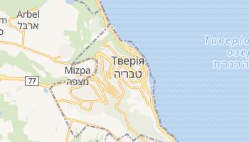 Тверія - детальна мапа