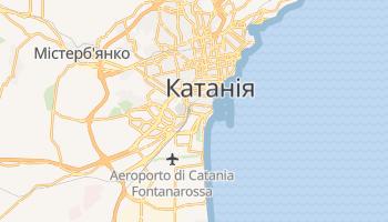 Катанія - детальна мапа