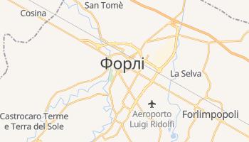 Форлі - детальна мапа