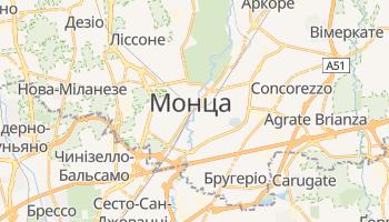 Монца - детальна мапа