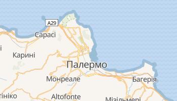 Палермо - детальна мапа