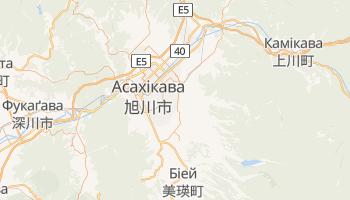 Асахікава - детальна мапа