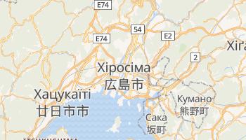 Хіросіма - детальна мапа
