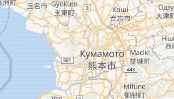 Кумамото - детальна мапа
