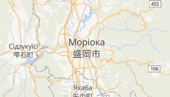 Моріока - детальна мапа
