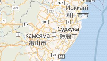 Судзука - детальна мапа