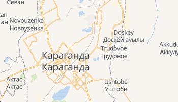 Караганда - детальна мапа