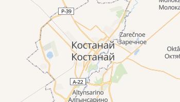 Кустанай - детальна мапа