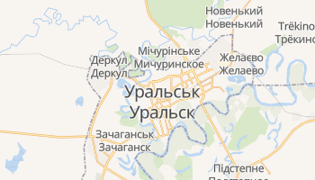 Уральськ - детальна мапа