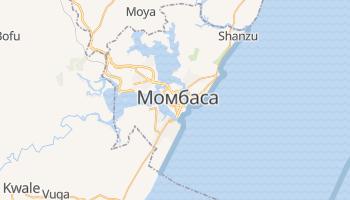 Момбаса - детальна мапа