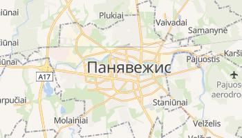 Паневежис - детальна мапа