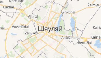 Шяуляй - детальна мапа