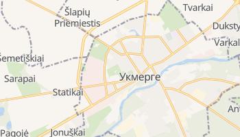 Укмерге - детальна мапа