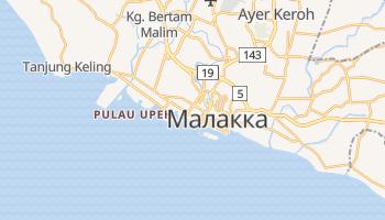 Малакка - детальна мапа