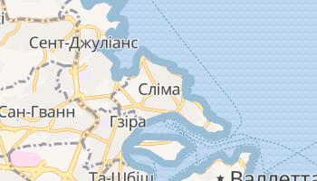 Сліма - детальна мапа