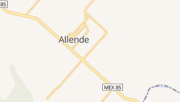 Альєнде - детальна мапа