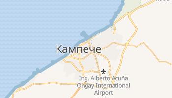 Кампече - детальна мапа