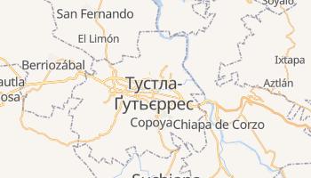 Тустла-Ґутьєррес - детальна мапа