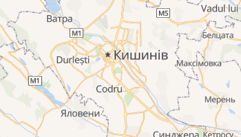 Кишинів - детальна мапа