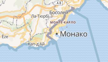 Монако - детальна мапа