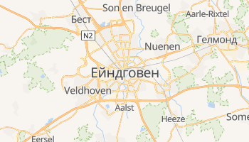 Ейндговен - детальна мапа