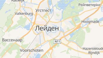 Лейден - детальна мапа