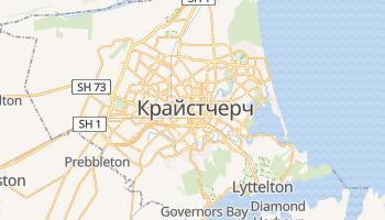 Крайстчерч - детальна мапа