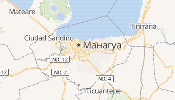 Манагуа - детальна мапа
