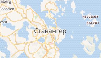 Ставангер - детальна мапа