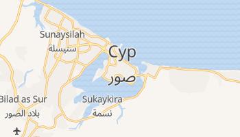 Сур - детальна мапа