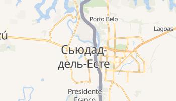 Сьюдад-дель-Есте - детальна мапа
