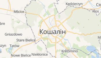Кошалін - детальна мапа
