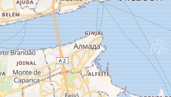 Алмада - детальна мапа