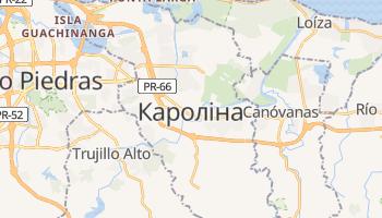 Кароліна - детальна мапа
