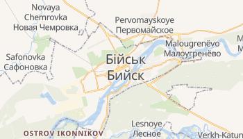 Бійськ - детальна мапа