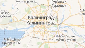 Калінінград - детальна мапа