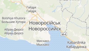 Новоросійськ - детальна мапа