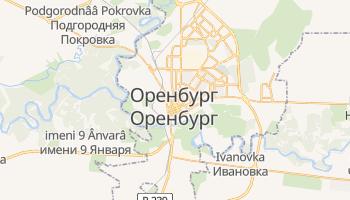 Оренбург - детальна мапа
