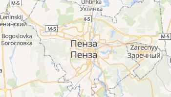 Пенза - детальна мапа