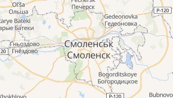 Смоленськ - детальна мапа