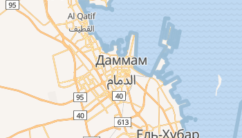 Даммам - детальна мапа