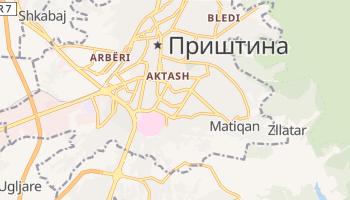 Пріштіна - детальна мапа