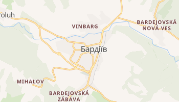 Бардіїв - детальна мапа