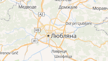 Любляна - детальна мапа