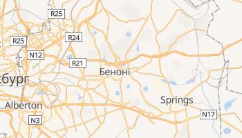 Беноні - детальна мапа