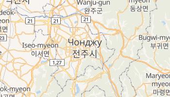 Чонджу - детальна мапа