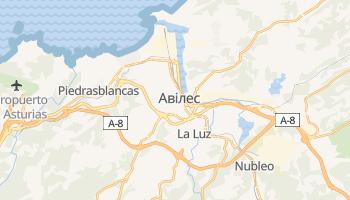 Авілес - детальна мапа