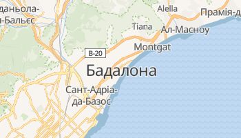Бадалона - детальна мапа